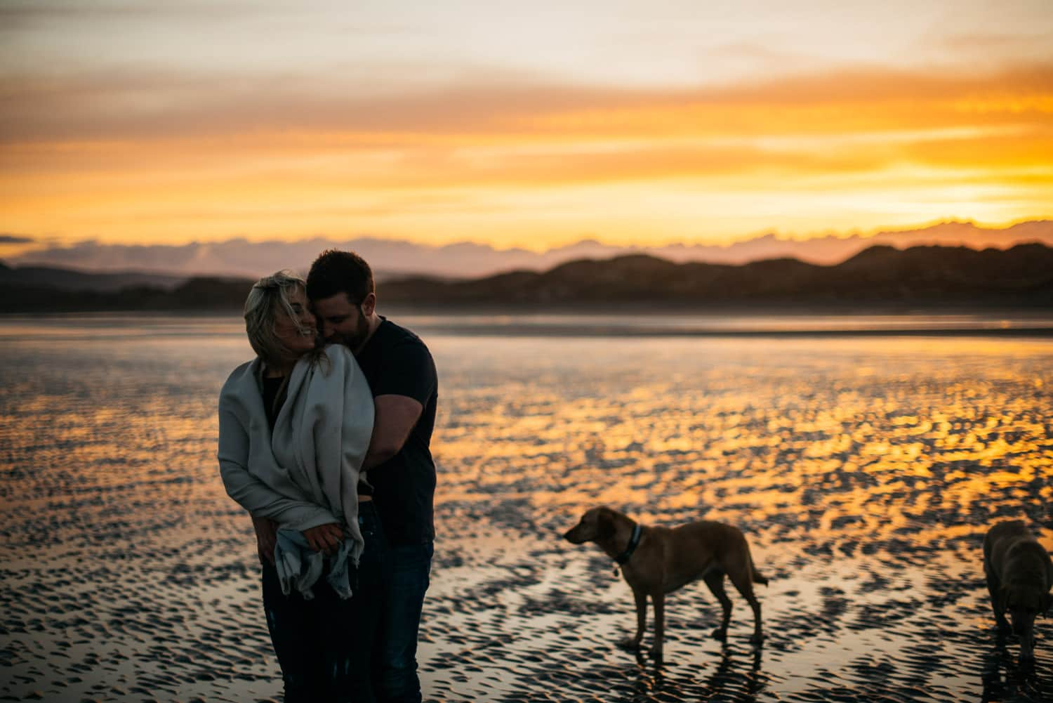 couple laughing at sunset Engagement Photography Belfast