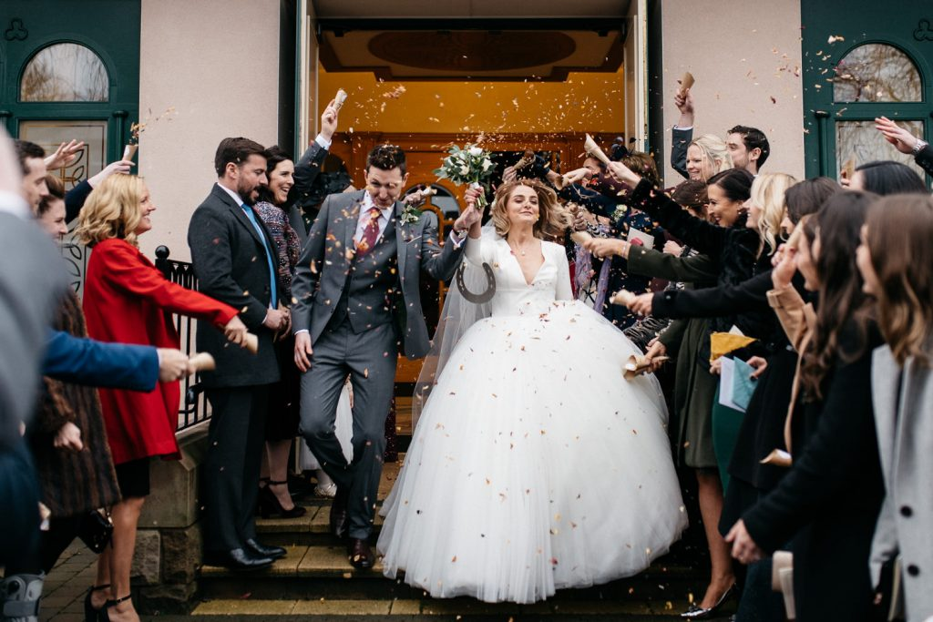 confetti shot wedding photography Northern Ireland