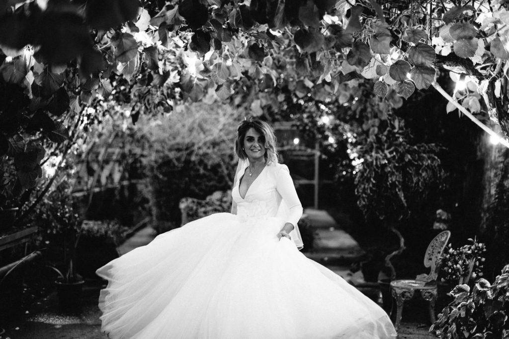 bride swinging dress Larchfield Estate Wedding photos