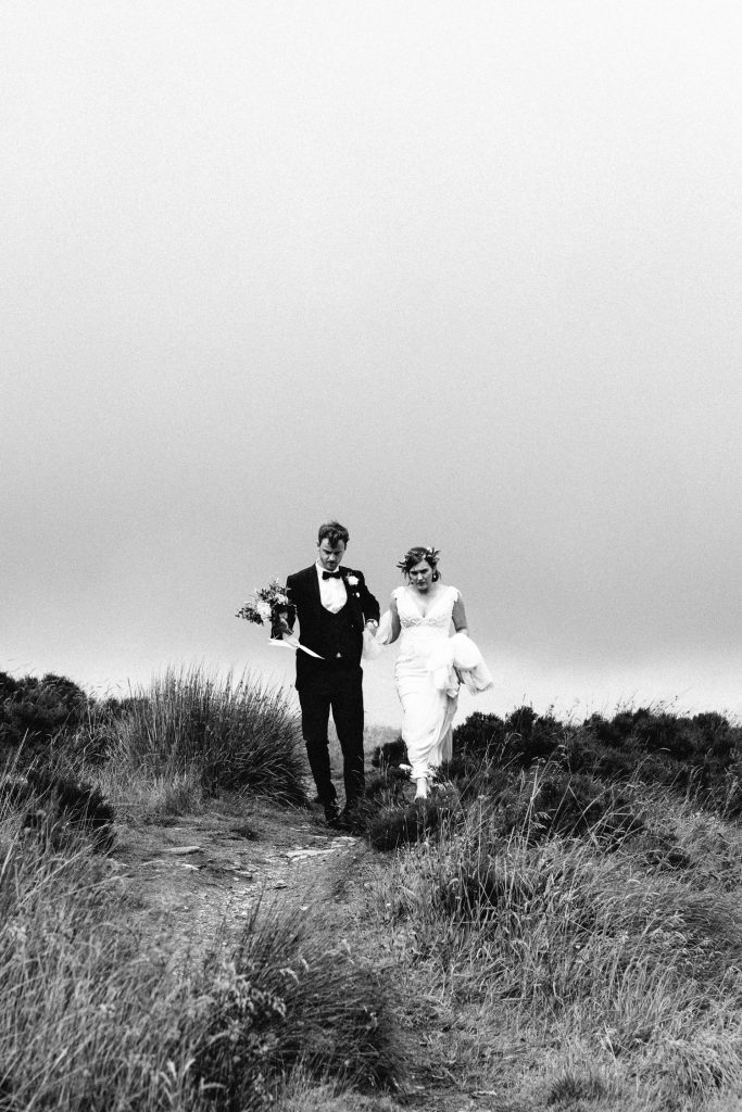 bride and groom black and white Northern Ireland Wedding Photographers