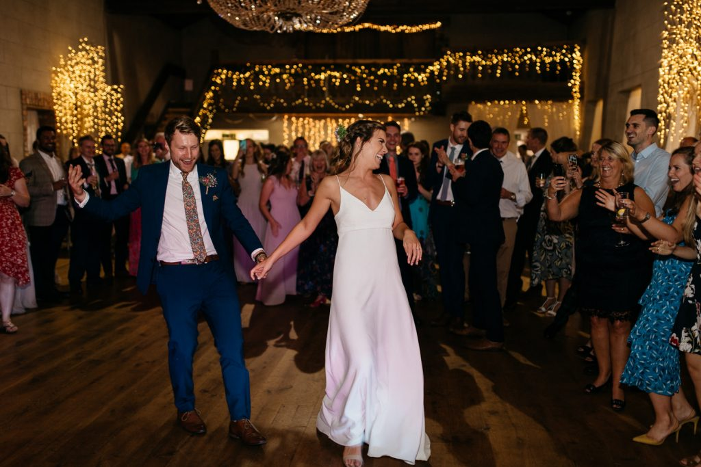 bride and groom first dance Gracehall Wedding Photography