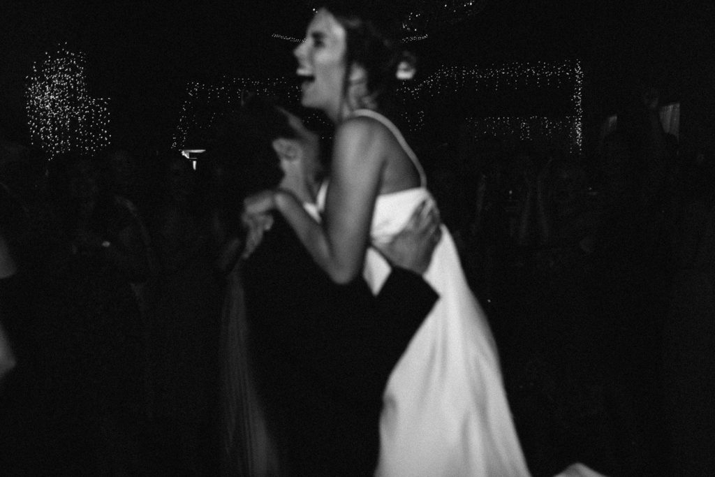 bride lifting groom black and white first dance Gracehall Wedding Photography