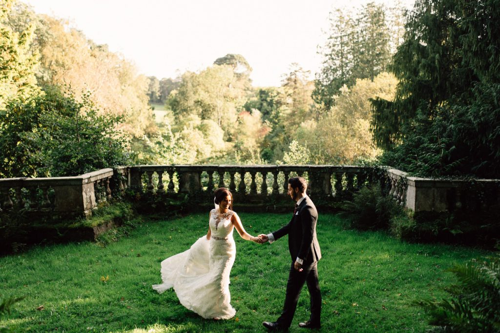 bride and groom dancing in the moon garden Drenagh House Estate Wedding
