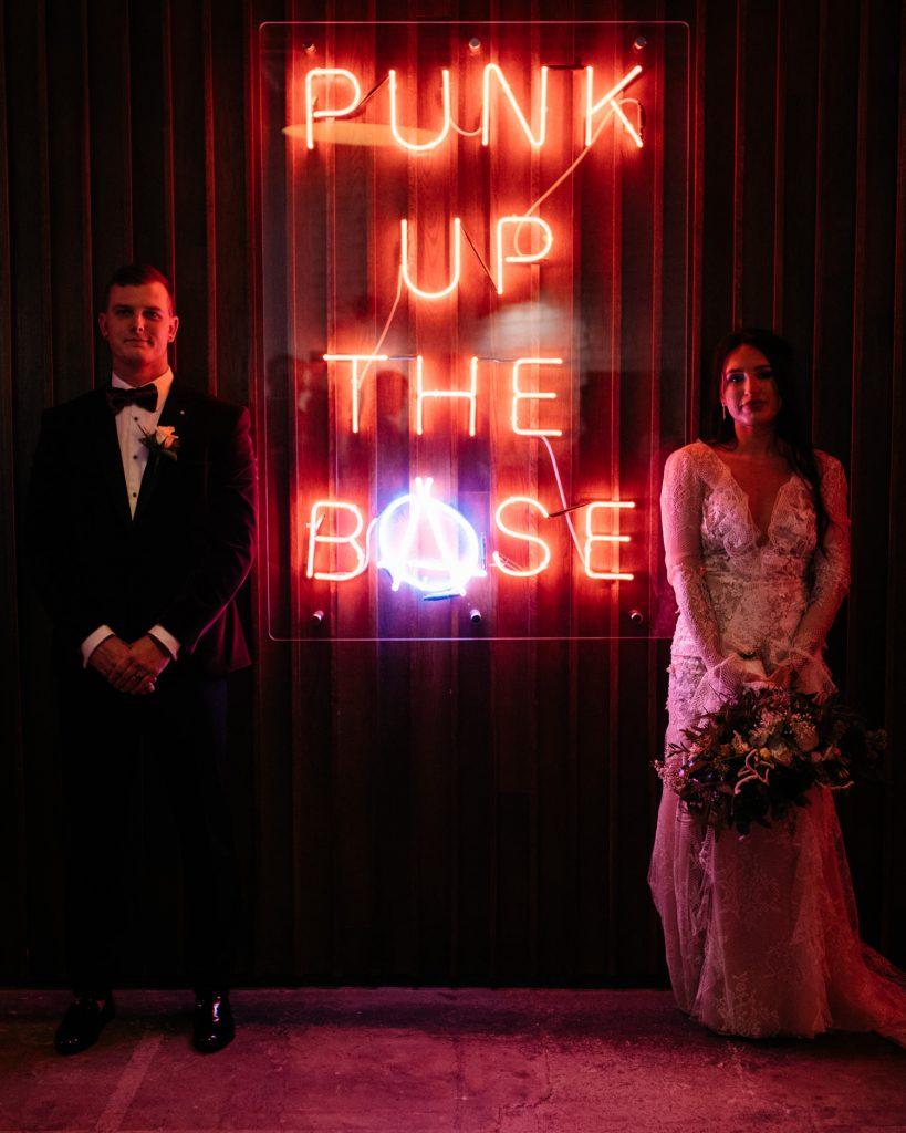 bride and groom posing bath Pizza Punks  Merchant Hotel Belfast Wedding Photographer