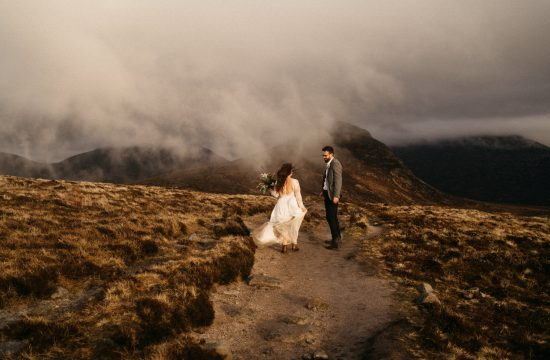 bride and groom having a moment Mourne Mountains Wedding Photography